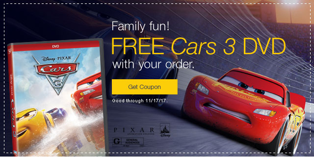 Cars 3 FREE Gift