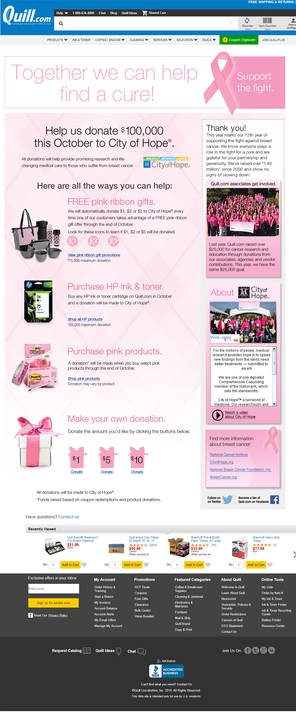 Pink Products Event