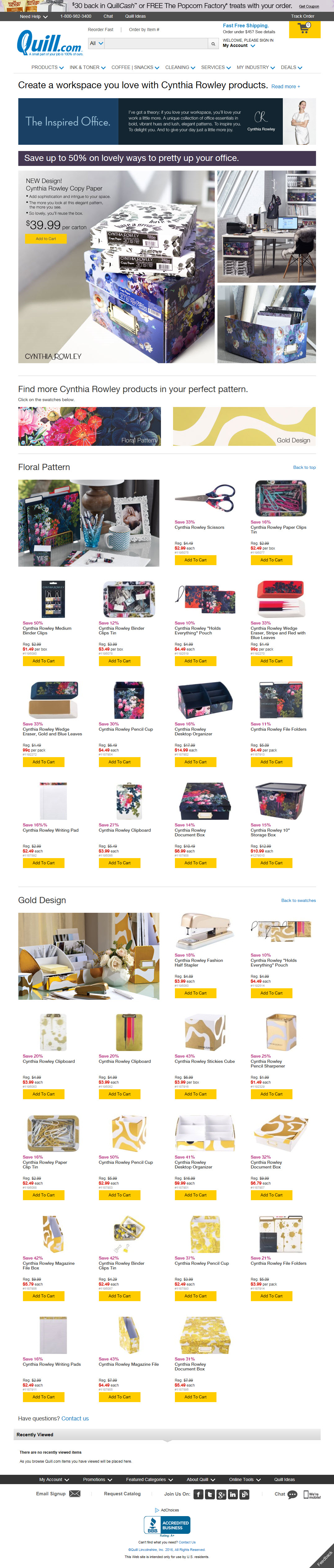Cynthia Rowley® Product Launch/Campaign—Landing Page