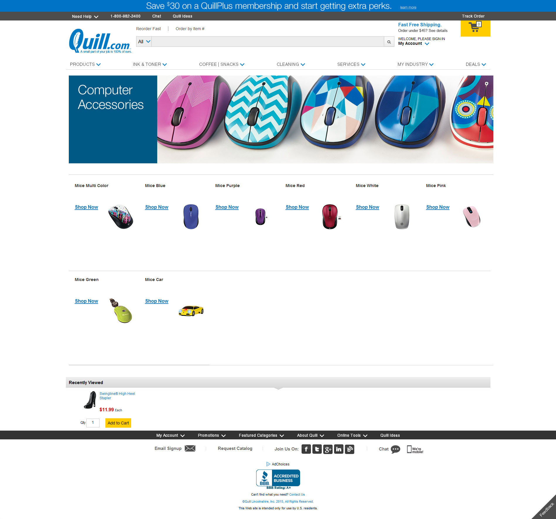 Computer Mouse product page