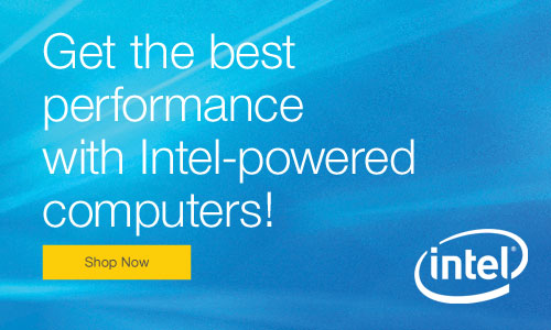Intel Ad and Landing Page
