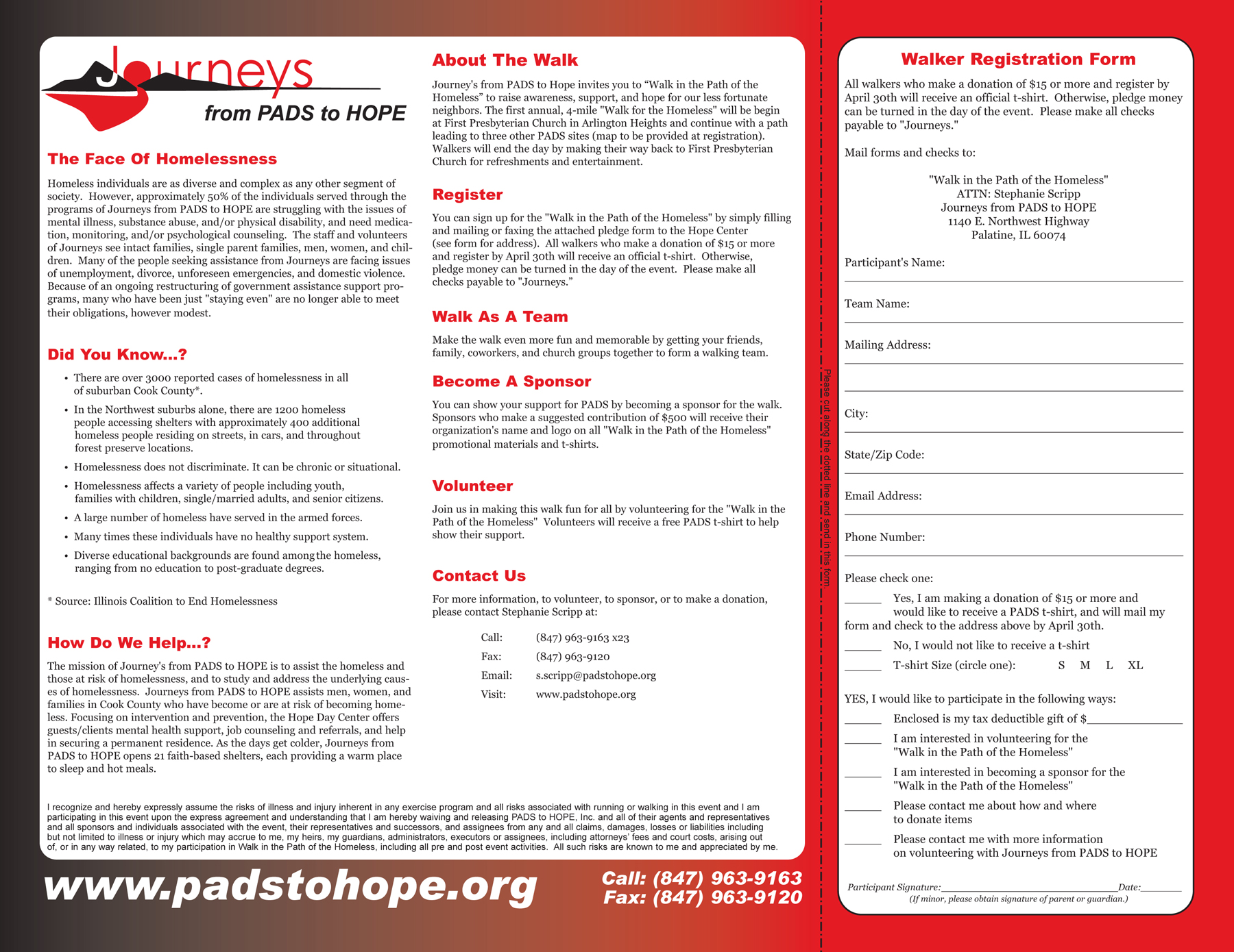 PADs Journey from PADs to Hope Brochure