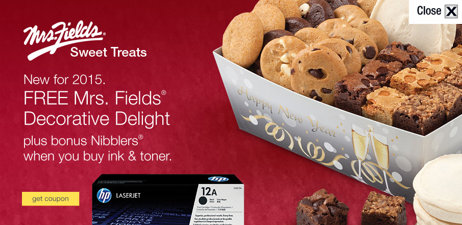 2015 Free Mrs. Fields® Sweet Treat with purchase campaign—Banner