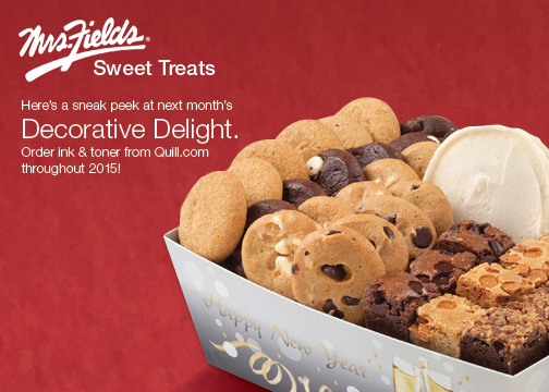 2015 Free Mrs. Fields® Sweet Treat with purchase campaign—Front postcard